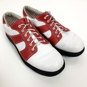 Footjoy | Red & White Contour Series Golf Shoes